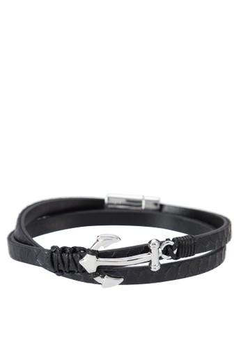 Premium -  真皮雙層墜飾手環, 飾esprit outlet 旺角品配件, 手環