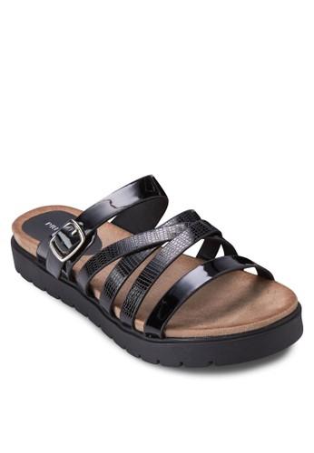 Blanc esprit tw多帶仿皮厚底涼鞋, 女鞋, 涼鞋