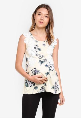 Dorothy Perkins yellow Maternity Lemon Lace Shell Top 0B25EAA2F48FE0GS_1