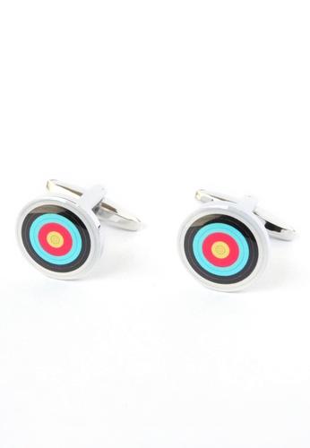 Splice Cufflinks multi Archery Target Cufflinks SP744AC38UGVSG_1