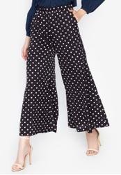 Chase Fashion black Polka Dots High Rise Wide Leg Long Culottes DF655AA08A3C94GS_1