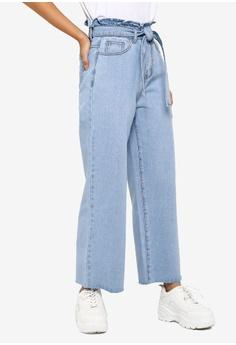 d727d5720df97 Something Borrowed blue Waist Tie Paperbag Jeans 1917FAADD57778GS_1