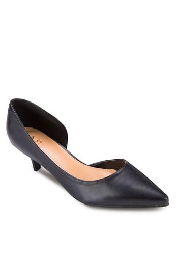 側鏤空esprit china尖頭低跟鞋, 女鞋, 鞋
