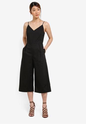 Something Borrowed black Cami Midi Jumpsuit BC59CZZFC1F3E5GS_1
