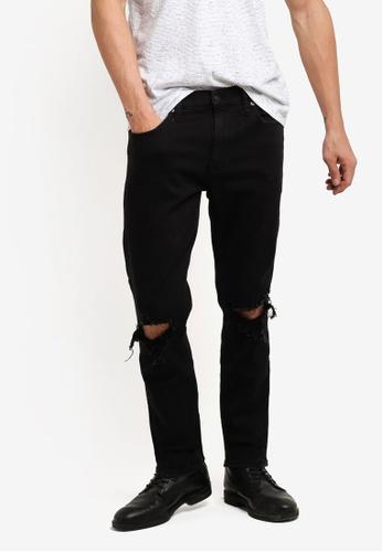Hollister black Skinny Black Destroy Jeans HO422AA78INDMY_1