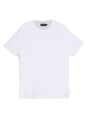 Burton Menswear London white White Waffle Short Sleeves Tee 1839EAAC0C9F98GS_1