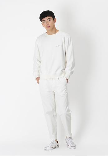 Buy A for Arcade Wyatt Wide-Fit Chinos in White Online on ZALORA ... b5422ae7d11d4