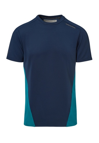 Porsche Design PUMA x Porsche Design Navy Active Tee Blue Men's T-Shirt for Men 57B99AACC25F52GS_1