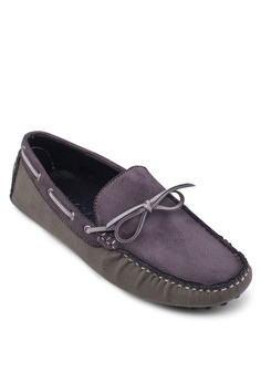 Mixed Material Driving Shoe