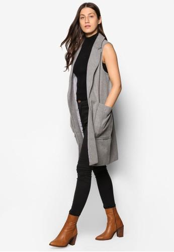 Collection 雙口袋長版無袖外套、 服飾、 外套ZALORACollection雙口袋長版無袖外套最新折價