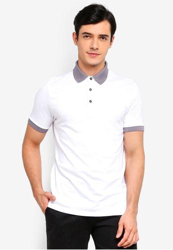 Burton Menswear London 白色 提花POLO衫 4EFD4AA70310A8GS_1