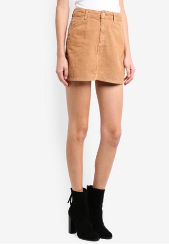bff15abbe72e Shop TOPSHOP Petite Camel Corduroy Mini Skirt Online on ZALORA Philippines