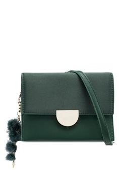 c25eb5c8668 VINCCI green Pompom Detail Bag FA386ACA024301GS 1