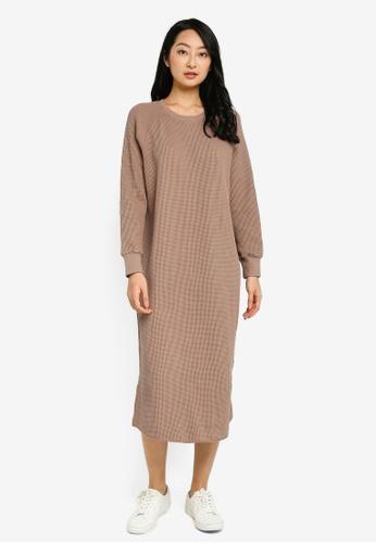 LOWRYS FARM beige Sweater Dress 963BBAA172E658GS_1