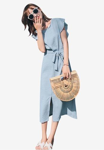 Sunnydaysweety blue Flounce One Piece Dress A081FAAD79E0D0GS_1