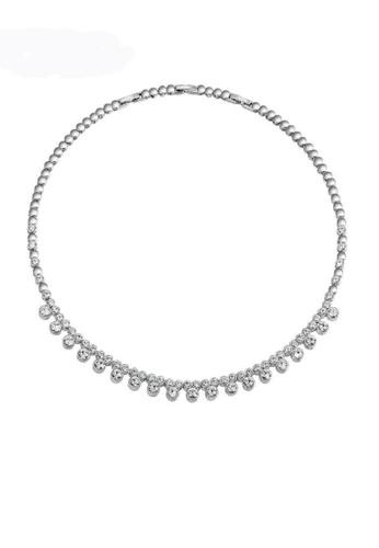 ADORA silver Swarovski Clear Crystal Necklace E91B8AC4AAD0CFGS_1
