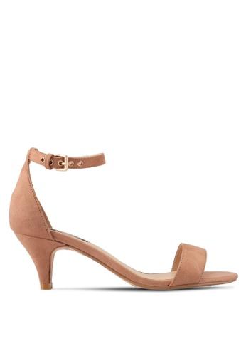 ZALORA brown Ankle Strap Low Heels F0C98SHEDBC944GS_1