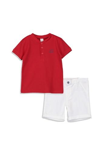 LC Waikiki red Baby Boy's T-Shirt And Shorts Set 82946KAA93715CGS_1
