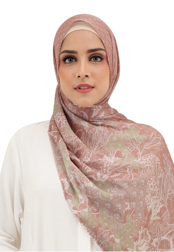 Buttonscarves pink Buttonscarves Maharani Satin Shawl Dusty 86711AAF07ED9EGS_1