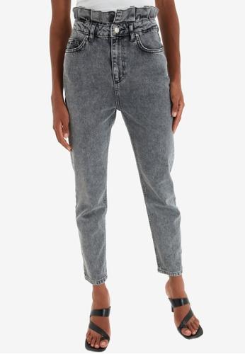 Trendyol grey High Waist Mom Jeans FFEBAAA234E962GS_1