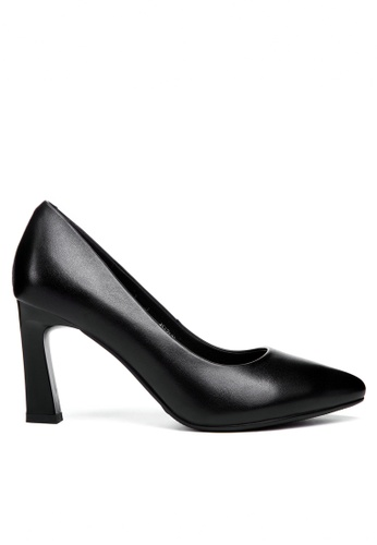 Twenty Eight Shoes black 8CM Leather Uniform Pointy Pumps 376ZC B7CC0SH5AB79B0GS_1