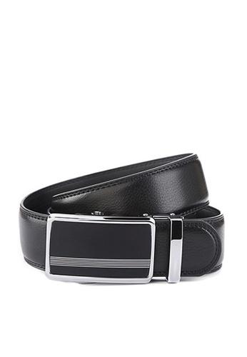 Twenty Eight Shoes black VANSA Fashion Leather Automatic Buckle Belt  VAM-Bt015 AD040AC14370FCGS_1