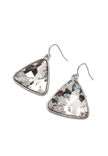 Jaysa Collection silver Light Glamour Triangle Earrings JA875AC68PMPSG_1