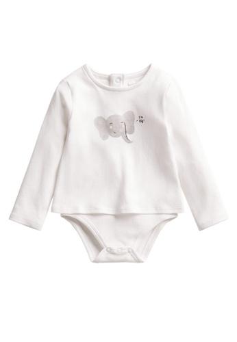 MANGO BABY white Print Body T-Shirt DE65DKA345FC4EGS_1
