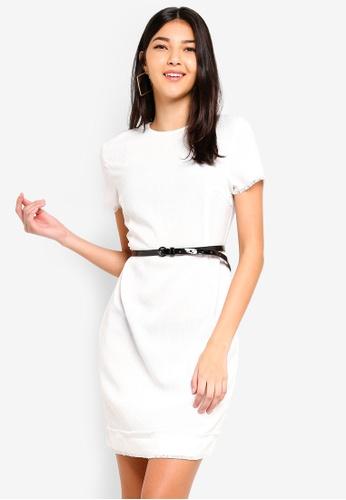 ZALORA white Fray Edges Tweed Dress 31F06AA11D5D3CGS_1