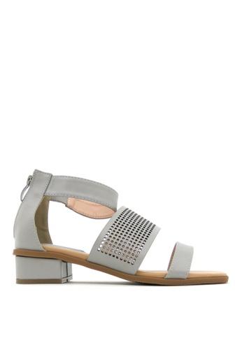 "Carlo Rino grey Carlo Rino 33340-B028-28 1""Strappy Dress Sandals 9B9FBSH36D7AB6GS_1"