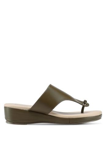 Bata green Slide On Wedge Sandals EDB03SH2149D99GS_1