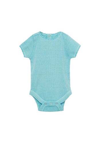 MANGO BABY green Cotton Bodysuit 70CC6KAACC982CGS_1