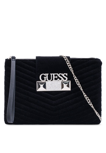 Guess black Jazzie Crossbody Top Zip Bag F5DA7ACCEBDB34GS_1