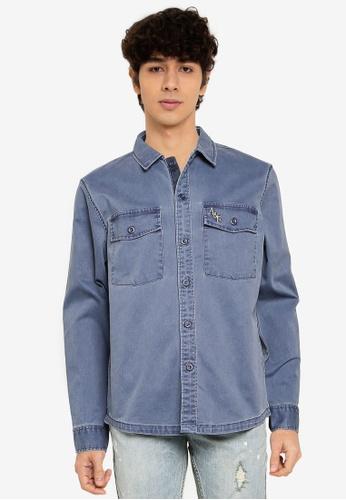 Abercrombie & Fitch grey Shirt Jacket 5F4BBAA94A542FGS_1