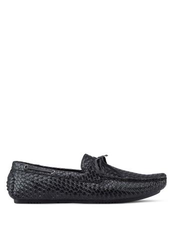 Voze black Woven Loafers VO198SH70HABMY_1
