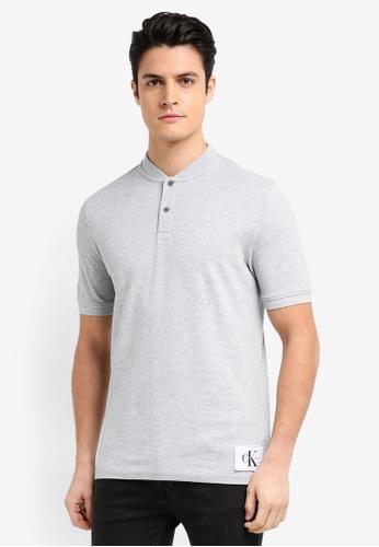 Calvin Klein grey A-Primo 2 Regular Short Sleeve Polo Shirt - Calvin Klein Jeans 26B91AA9DA8551GS_1