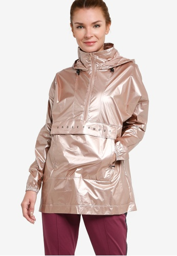 Under Armour beige Unstoppable Best Woven 1/2 Zip Anorak AF0E7AA828BC93GS_1