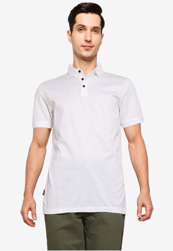 SUPERDRY white Edit Short Sleeve Polo Shirt 6C261AA18FDE85GS_1