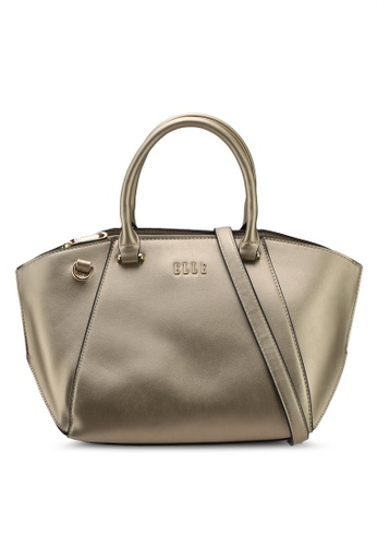 ELLE gold Caressa Top Handle Bag 7D18EAC84B54FAGS_1