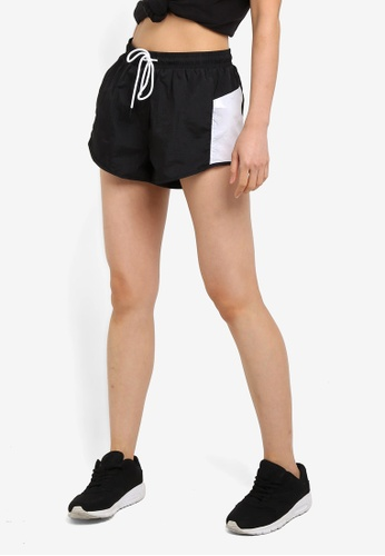 Cotton On Body black and white Panelled Crinkle Shorts C8B2CAAC5CBC60GS_1