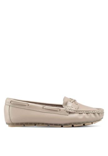 Bata 米褐色 懶人樂福鞋 D4182SH1B7A894GS_1