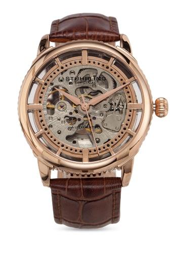 Stuhrling Original brown Legacy 3933 Watch F3A61AC2740A67GS_1