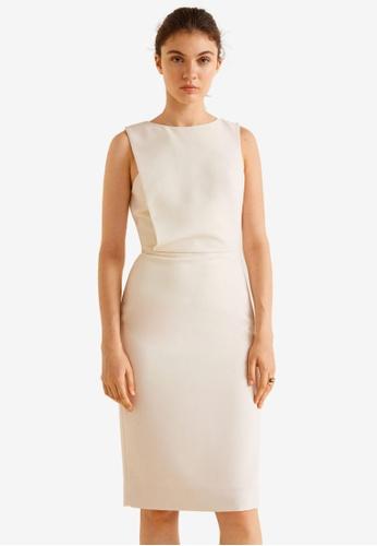 Mango beige Zipped Dress 09BEFAA5EC406CGS_1