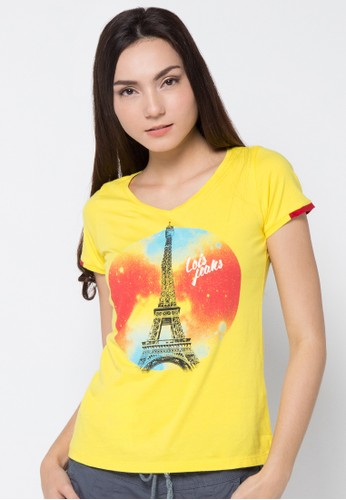 LOIS JEANS yellow Short Sleeve T-Shirt LO391AA93JYKID_1