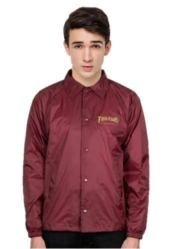 29bdd0586a2b Thrasher red Thrasher Pentagram Coach Jacket Maroon 30248AA4B7C841GS 1