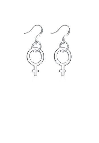 Glamorousky silver Fashion Simple Earrings CC42DAC967AD36GS_1
