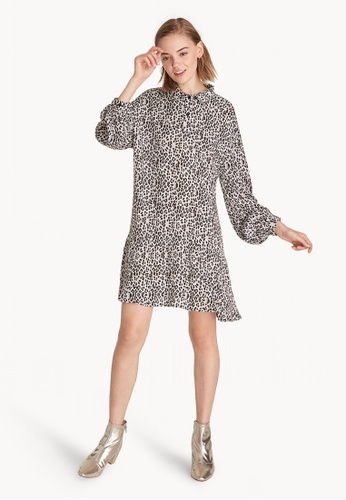 Pomelo multi Mini Flowy Leopard Print Shirt Dress 3E74BAA612F838GS_1
