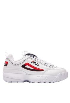 9eb28fe12acd Fila white DISRUPTOR II Leather Chunky Sneakers 8310BSH8369B9DGS 1