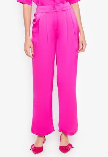 the___edit pink Dua Satin Pants 26B97AA4B36047GS_1