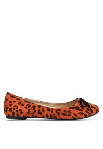 Ballerinas by s:w:k orange Ashlee Leopard Flats BA825SH51WKISG_1